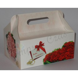 Samoskładające  pudełka na ciasto model-01 czerwony