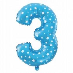 Balon Foliowy  Cyferka złota 3