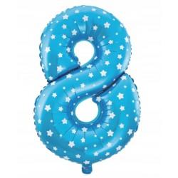 Balon Foliowy  Cyferka złota 7