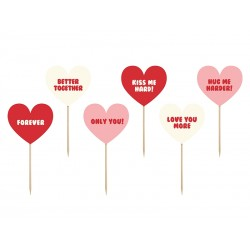 Karteczki dekoracja do mufinek SWEET LOVE