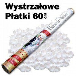 Konfetti TUBA 60 cm Białe Płatki