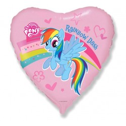 Balon Foliowy My Little Pony Rainbow Dash z tęczą