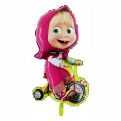 Balon Foliowy Masha na rowerku - 3