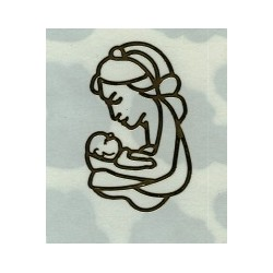 STICKERSY Naklejki Matka i dziecko srebrne