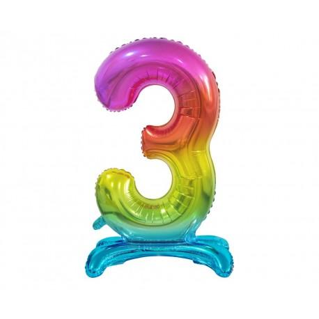 Serwetki trójwarstwowe różowe w białe serduszka