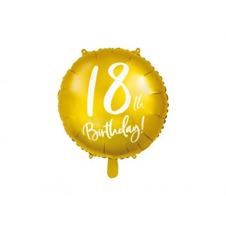 Topper na tort  Happy Birthday, 25,5cm czarny