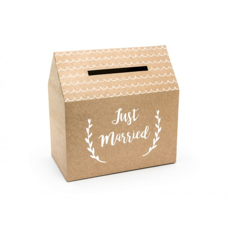 Pudełko na koperty Just Married Kraft