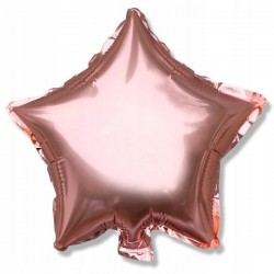 Balon gwiazdka foliowy 25 cm złoto rose gold