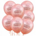 Zestaw balonów różowe złoto Wieczór Panieński Bride to be LED