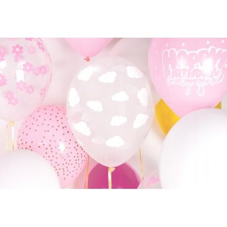 Zestaw balonów różowe złoto She Said Yes