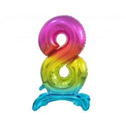 Świeczka urodzinowa na tort cyferka róż 3
