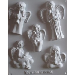 Forma gipsowa aniołki 4el
