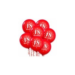 Balony na 18 urodziny