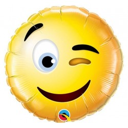 Balon Foliowy Smiley Wink 9""