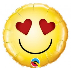 "Balon Foliowy Smiley Wink 9""-3"