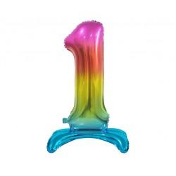 Serwetki trójwarstwowe białe w serduszka złote