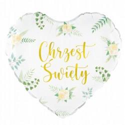 Zaproszenia komunia IHS ornament złoty