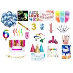 Czapeczki Urodzinowe MIX
